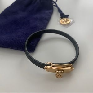 Tory Burch Leather Strap Bracelet